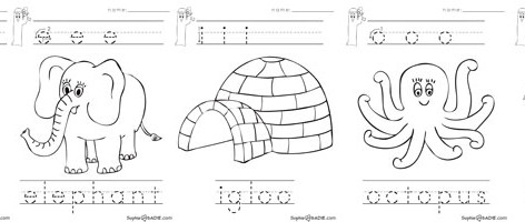vowel coloring pages - photo#22