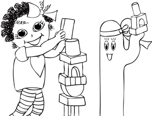 coloring pages building block - photo#29
