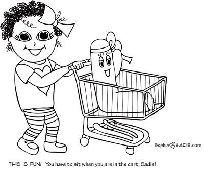 Grocery cart Sophie and Sadie