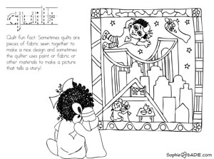 Quilt Ringgold Tar Beach Tags Coloring Page