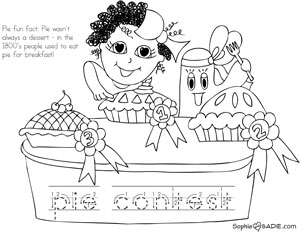 Coloring Page Sophie And Sadie Part 7 County Fair Coloring Pages