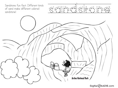 Coloring Page Arches National Park