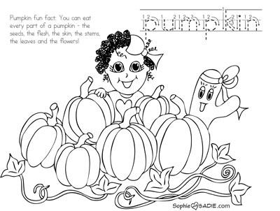 Coloring Page Pumpkin Patch