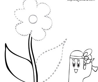 Number Names Worksheets pictures of flowers to trace : Finish The Drawing | Sophie and Sadie